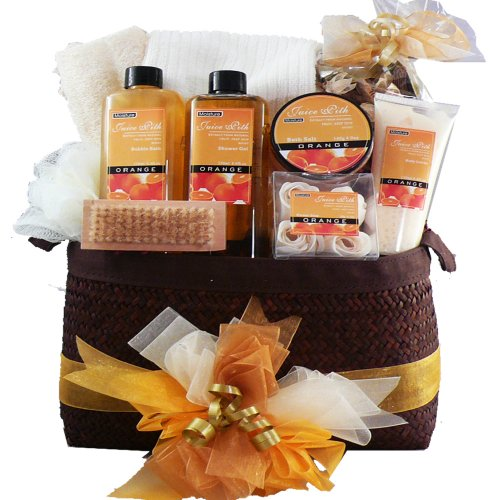 Citrus Splash Invigorating Spa Bath and Body Gift Set - Gift Basket