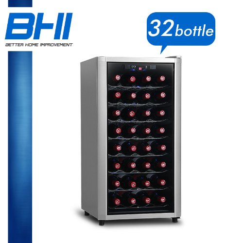 32 BTL Electric Wine Cooler Cellar Chiller Single Zone WNCL-AZ2131