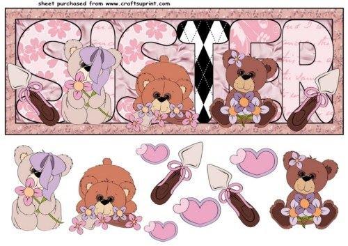 Siste floreale orso di anteriore da Sharon Poore