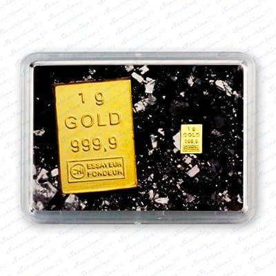 "Goldbarren 1g 1 Gramm Motivbox "" Minigoldbarren "" Gold Barren + Zertifikat von der Marke Securina24"