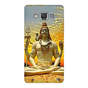 Gorgeous Shiva Samadhi Print Back Case Cover for Galaxy Grand 3