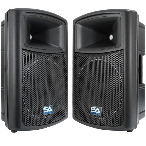 "Seismic Audio - Pws-12 (Pair) - Powered Pa/Dj 12"" Molded Speakers - 500 Watts Each"