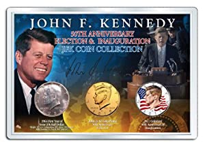 PRESIDENT JOHN F. KENNEDY 50th Anniversary Presidential 3-Coin 1964 SILVER Set