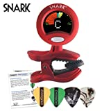 Snark SN-2 All Instrument Tuner with Tap Tempo Metronome - Includes Planet Waves Guitar Picks2 All Instrument Clip-On Chromatic Tuner with SN2 Tap Tempo Metronome - Full Color Display, Planet Waves Guitar Picks
