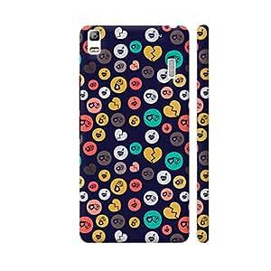 Colorpur Romance Love Colorful Hearts Circles On Dark Blue Designer Mobile Phone Case Back Cover For Lenovo A7000 | Artist: Designer Chennai