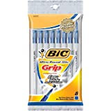 Bic Ultra Round Stic Grip Ball Pens Medium Point 8/Pkg-Blueby BIC
