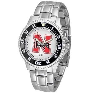 Nebraska Cornhuskers NCAA Competitor Mens Watch (Metal Band) by SunTime