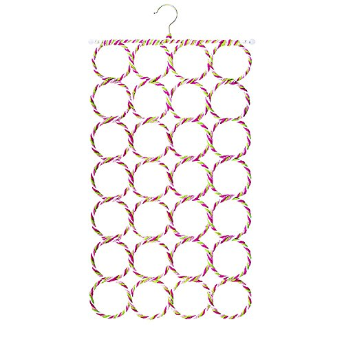 Mango Spot 28 Count Circles Scarf / Belt / Tie Organizer Hanger Holder (Scarf Organizer Over The Door compare prices)