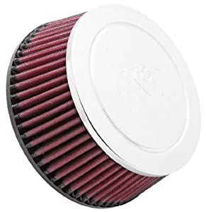 K&N RC-5054 High Performance Universal Clamp-on Chrome Air Filter