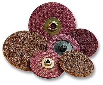 3M Scotch-Brite SC-DR Non-Woven Aluminum Oxide Quick Change Disc - Medium Grade - 1 1/2 in Dia - 30000 Max RPM - 08765 [PRICE is per DISC]