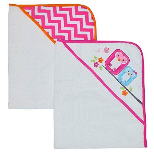 happy-chic-by-jonathan-adler-applique-print-interlock-and-woven-terry-hooded-towel-pink-owl-2-count