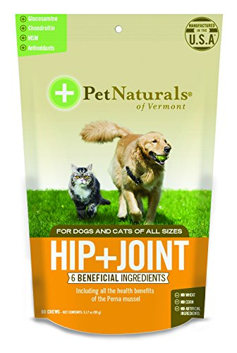 Pet Natural's of Vermont 60 Count Hip Plus Joint Supplement Soft Chews for Cats and Dogs (Vermont Naturals Hip And Joint compare prices)