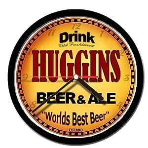 HUGGINS beer and ale cerveza wall clock