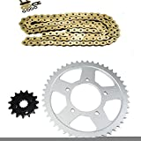 Gold O-Ring Chain and Sprocket Kit for Suzuki GSX600 F Katana Road 1998-2006