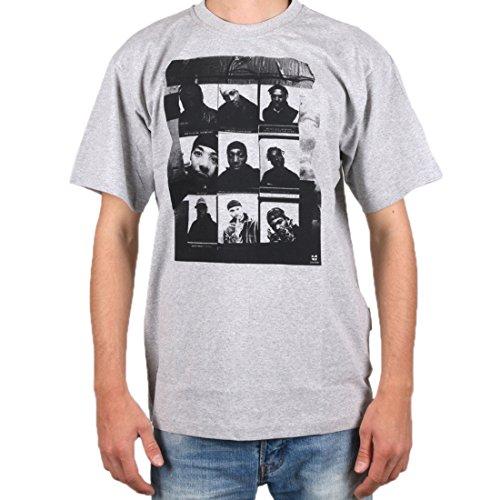 Wu Wear - Wu 9 Pics T-Shirt - Wu-Tang Clan Color Grey, Size XL