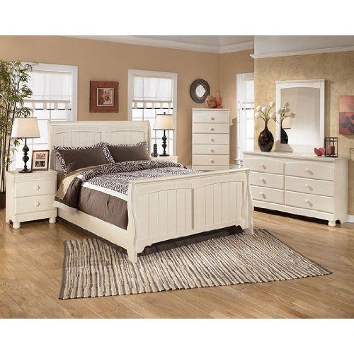 shop for cottage retreat sleigh bedroom set queen by signature