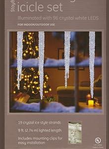 ge staybright led ice crystal icicle christmas lights set. Black Bedroom Furniture Sets. Home Design Ideas