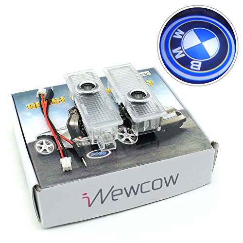 iNewcow Upgrade BMW Car Door Light Vehicle LED Welcome Logo Shadow Ghost Projector Light ?- (Bmw Logo Door Light Car compare prices)
