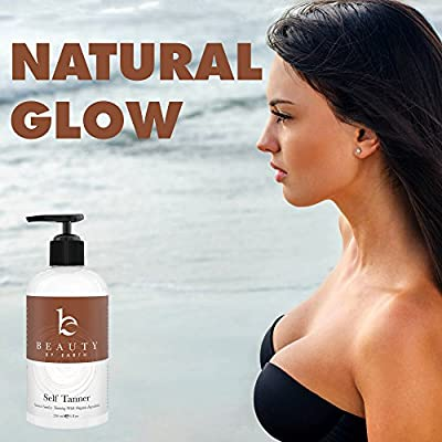 Best Cheap Deal for Self Tanner - Organic & Natural Sunless Tanning Lotion for Best Bronzer and Golden Tan - Dye-Free Alternative to Spray For All Skin Types, Light, Fair, Medium, Dark and Sensitive. Made in the USA from Beauty by Earth - Free 2 Day Shipp