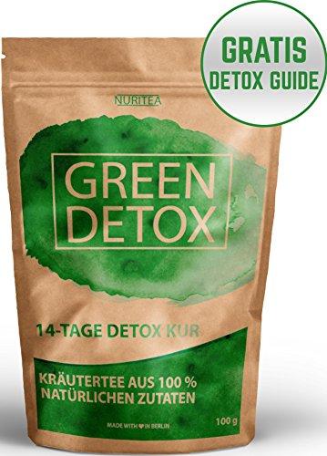 GREEN-DETOX-TEE-14-Tage-Detox-Kur-Entschlackungstee-100-natrliche-Kruterteemischung-Grner-Tee-Lemongras-Mate-Brennnessel-Ingwer-Gojibeeren-Gratis-Detox-Guide