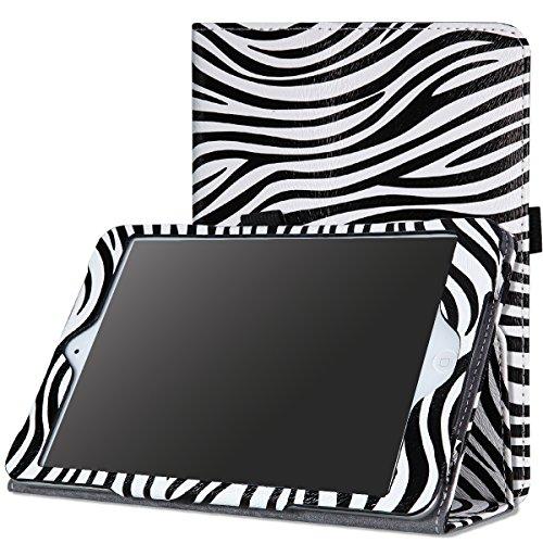 MoKo iPad Mini Case, iPad Mini 2 / 3 Case, Slim Folding Cover Case for Apple iPad Mini 1 (2012) / iPad Mini 2 (2013) / iPad Mini 3 (2014), Zebra BLACK (Will not fit iPad Mini 4) (Slim Folio For Ipad Mini compare prices)