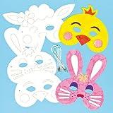 Lot de 6 Masques de Pâques à Colorier...
