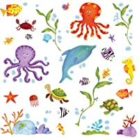 RoomMates RMK1851SCS Adventures Under the Sea Peel and Stick Wall Decals from York Wallcoverings
