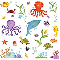 RoomMates RMK1851SCS Sapna Under The Sea Wall Decals