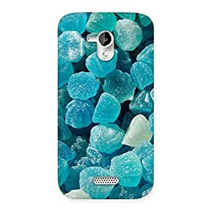 Impressive Bluish Gem Print Back Case Cover for Micromax Canvas HD A116