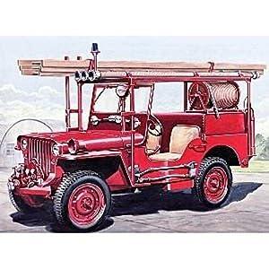 italeri i3722 maquette voiture et camion jeep willys pompiers echelle 1 24. Black Bedroom Furniture Sets. Home Design Ideas