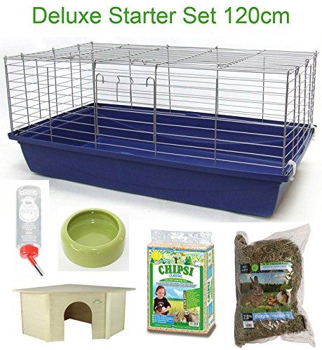 120-cm-Deluxe-Hasenkfig-Meerschweinchenkfig-Starter-Set