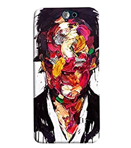 Blue Throat Artisitic Paint Pattern Hard Plastic Printed Back Cover/Case For HTC One A9