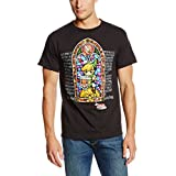 Nintendo Men's Stained Glass T-Shirt, Black, XX-Large