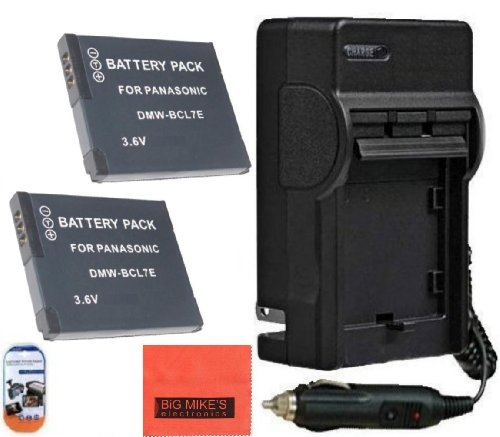 Pack Of 2 DMW-BCL7 Batteries & Battery Charger for Panasonic Lumix DMC-SZ3 DMC-SZ8 DMC-XS1 DMC-FH10 DMC-F5 Digital Camera + More!!