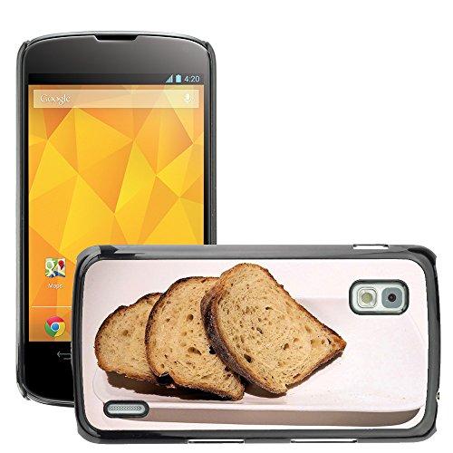 Carcasa Funda Prima Delgada SLIM Casa Case Bandera Cover Shell para // M00153042 Whole Grain Pane a fette Texture Avena // LG Nexus 4 E960