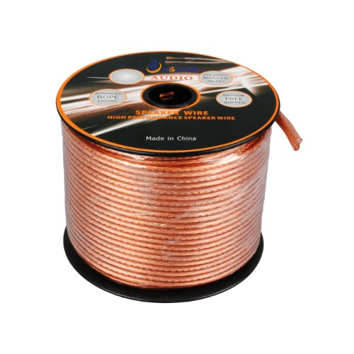 Aurum Cables 16 Gauge Waterproof Speaker Wire (W/ Sequential Ft Markings Every 5 Ft) - 100 Feet