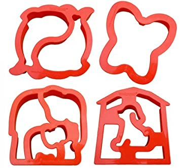 Elephant Dog Butterfly Dolphin Animal Shape Sandwich Cutters