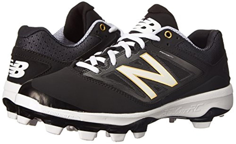 New Balance Men's PL4040V3 TPU Baseball Shoe, Black/White, 10.5 D US
