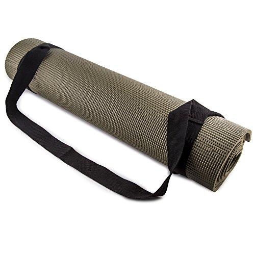 Training Mat Strap: ONYX BLACK Workout Pilates Fitness Gym Yoga Exercise Mat