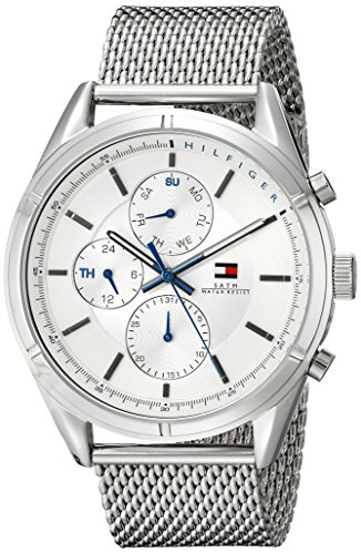 Tommy-Hilfiger-Mens-1791128-Sport-Lux-Silver-Tone-Stainless-Steel-Watch