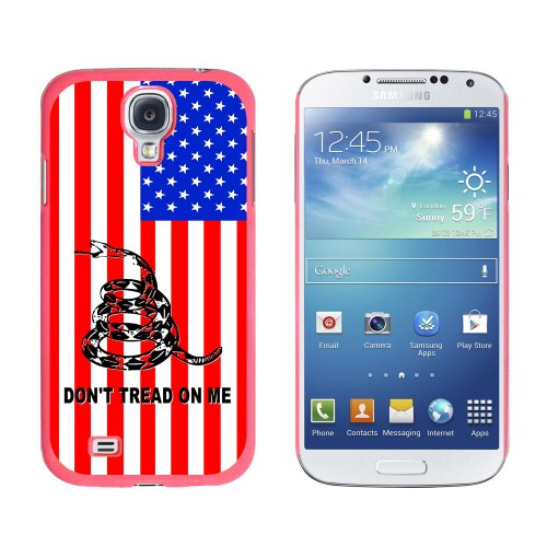 Graphics And More Gadsden Don'T Tread On Me Usa Flag - Tea Party - Snap On Hard Protective Case For Samsung Galaxy S4 - Non-Retail Packaging - Pink