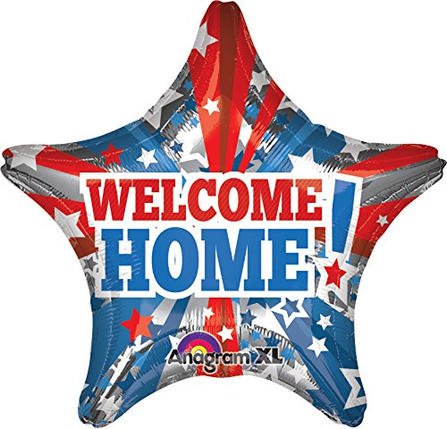 "Anagram International Welcome Home Patriotic Star Balloon, 32"", Multicolor"