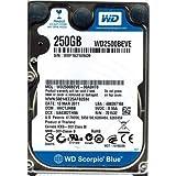 WD2500BEVE-00WZT0, DCM HHCTJAN, Western Digital 250GB IDE 2.5 Hard Drive (Tamaño: 250 GB)