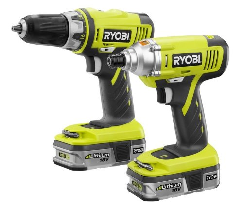 Factory-Reconditioned Ryobi ZRP839 ONE Plus 18V Cordless Lithium-Ion 2-Tool Combo Kit