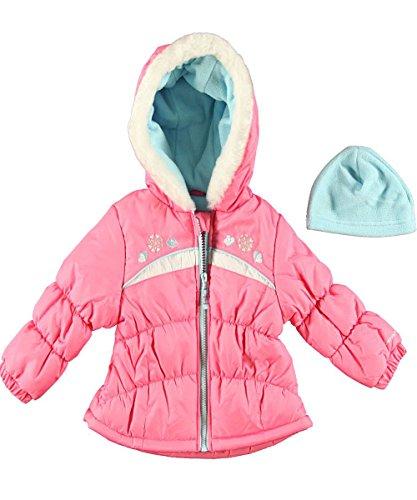 London Fog 伦敦雾 Baby-Girls Infant Heavyweight Puffer 女婴连帽棉服 $16.52+$9.44直邮中国(约¥160)