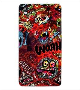 PrintDhaba Graffiti D-3844 Back Case Cover for HTC DESIRE 816 (Multi-Coloured)