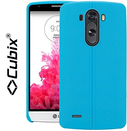 LG G3 D855 Case, CUBIX Stiched Line Design Armor Flip TPU Back Case Cover For LG G3 D855 (Blue)  available at amazon for Rs.349