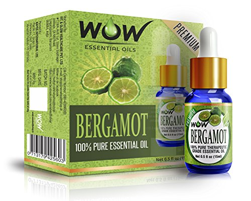 WOW 100% Pure Bergamot Essential Oil - 15ml / 0.5 oz - Therapeutic Grade