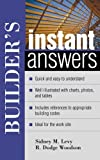 img - for Builder's Instant Answers book / textbook / text book