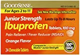 Good Sense Junior Strength Ibuprofen Tablets, 100 mg, 24 Count